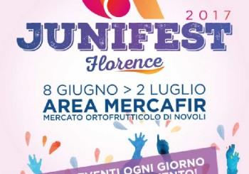 JUNIFEST FLORENCE 2017 – DALL'8 GIUGNO AL 2 LUGLIO 2017 –  AREA MERCAFIR MERCATO ORTOFRUTTICOLO DI NOVOLI